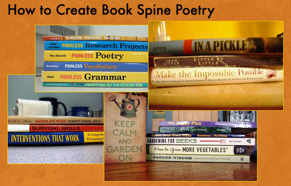 how to turn your summer reading list into book spine poetry