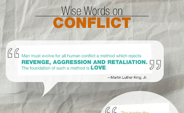 wise words on peace and understanding  a conflict