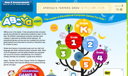 ABCya educational games website