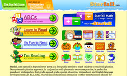 Starfall read with phonics website