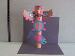 how to make a totem pole out of clay