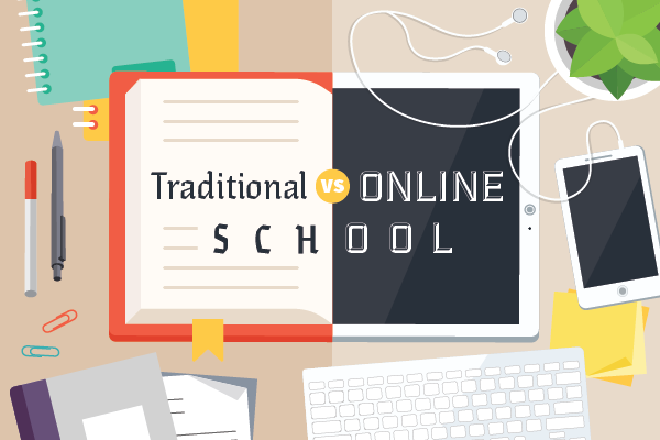 the differences between online school and traditional school  parental involvement