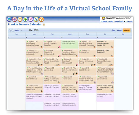 Sample Daily Schedules For Virtual School Families  Connections